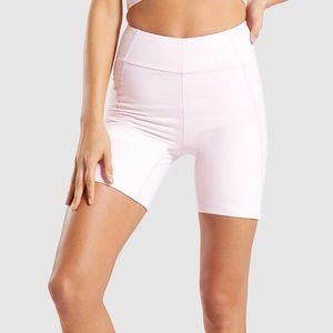 Gymshark HW Chalk Pink cycling shorts